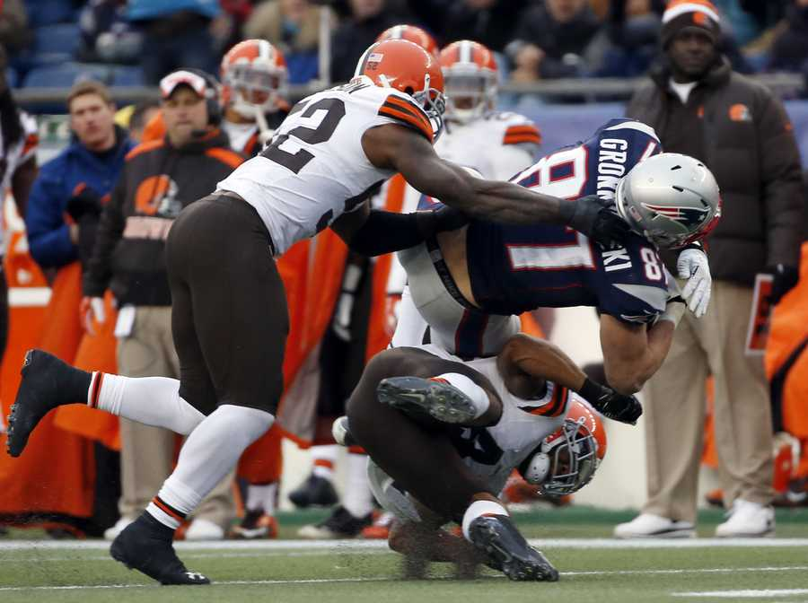 Ward said if he hit Gronkowski high, there was a chance he might be fined.