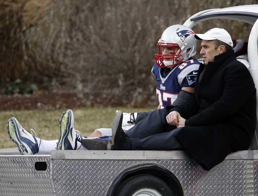 """""""As a team, we want him to play,"""" Patriots cornerback Devin McCourty said, but """"you just hate to see that for him. A guy that's battled back through his arm and his back (injuries) and been very productive for us this year, it stinks to see him get carted off the field like that."""""""