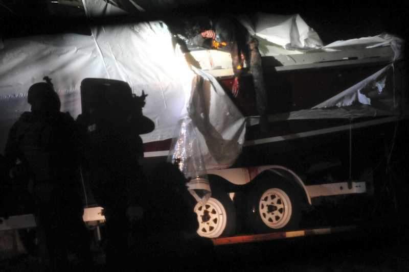 After an all day manhunt, Dzhokhar is captured by police. He was hiding in a boat in Watertown.