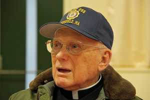 Veteran and chaplain, the Rev. Richard Driscoll of Topsfield.