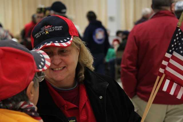 Tyler's grandmother, Christine Moody, is active in helping local veterans.