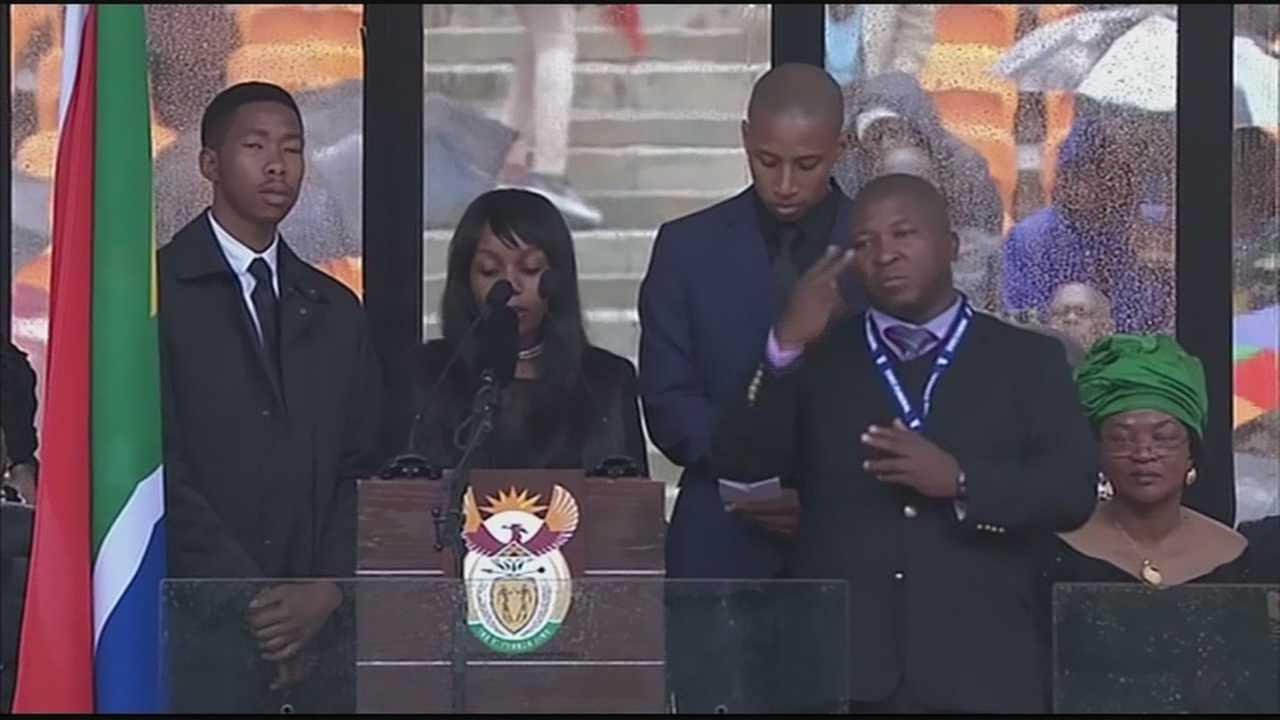 Fake sign language at Mandela
