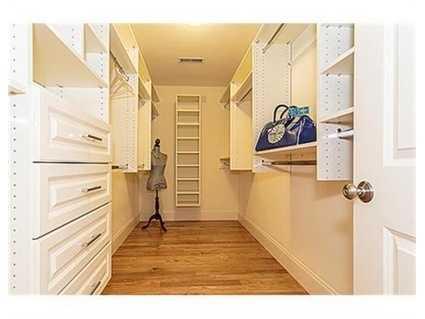 A walk-in closet.