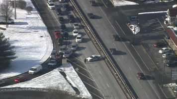 Route 9 eastbound was closed in the area.