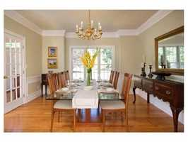 The formal dining area.