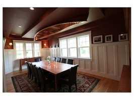 The elegant dining room.
