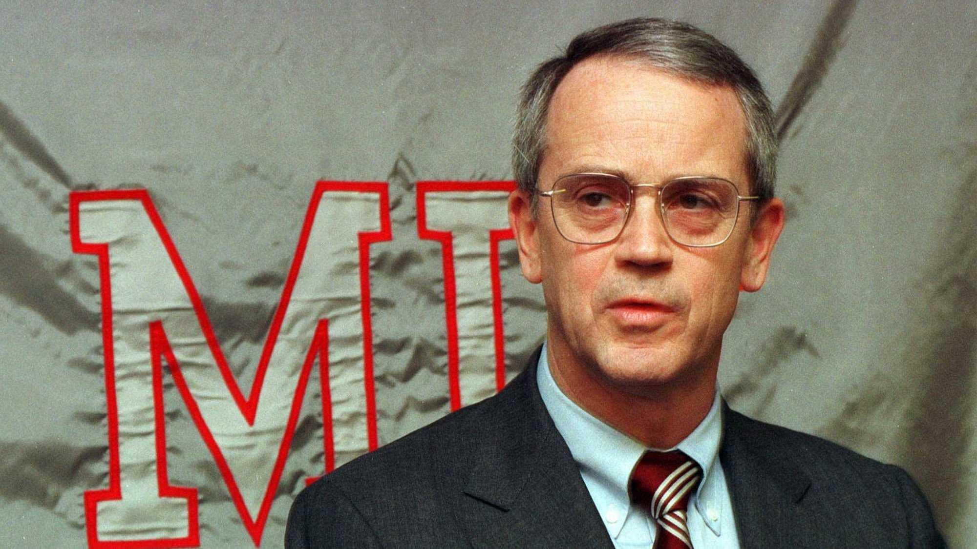 Massachusetts Institute of Technology president Charles M. Vest is shown in 1997.