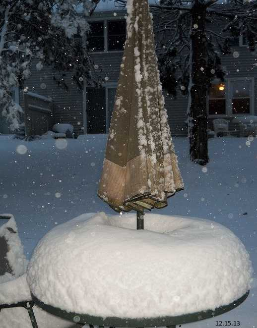 Snow accumulates in Bradford, Mass.