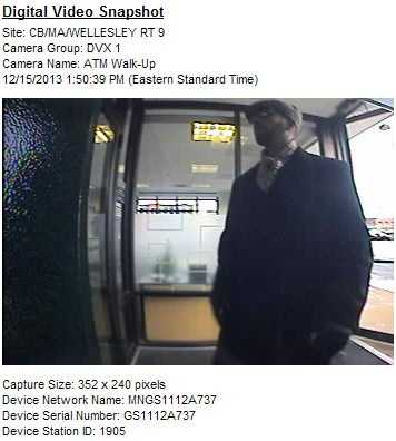 Police in Wellesley are asking the public to help them find the person suspected of robbing a bank on Sunday.