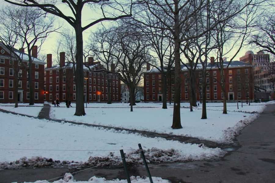 Four building on the Harvard Campus were evacuated by the University Monday morning.