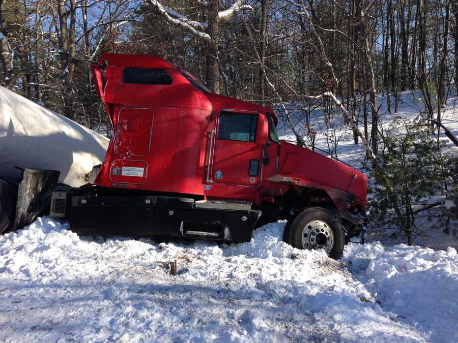 An evacuation of people living near Interstate 293 in Manchester was ordered after propane truck rollover.