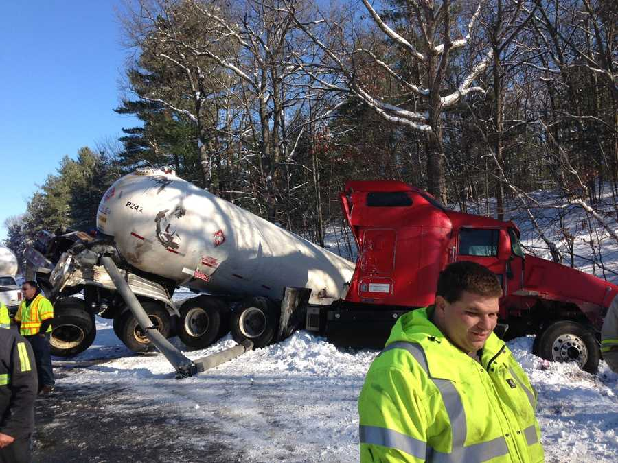 Officials said they expected the road to remain closed for several hours.