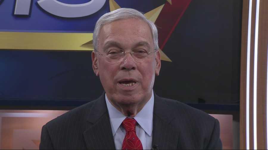 Boston Mayor Thomas Menino with a wake-up call for NewsCenter 5's EyeOpener