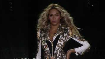 Photos from Beyonce's appearance at the TD Garden in Boston Friday night.