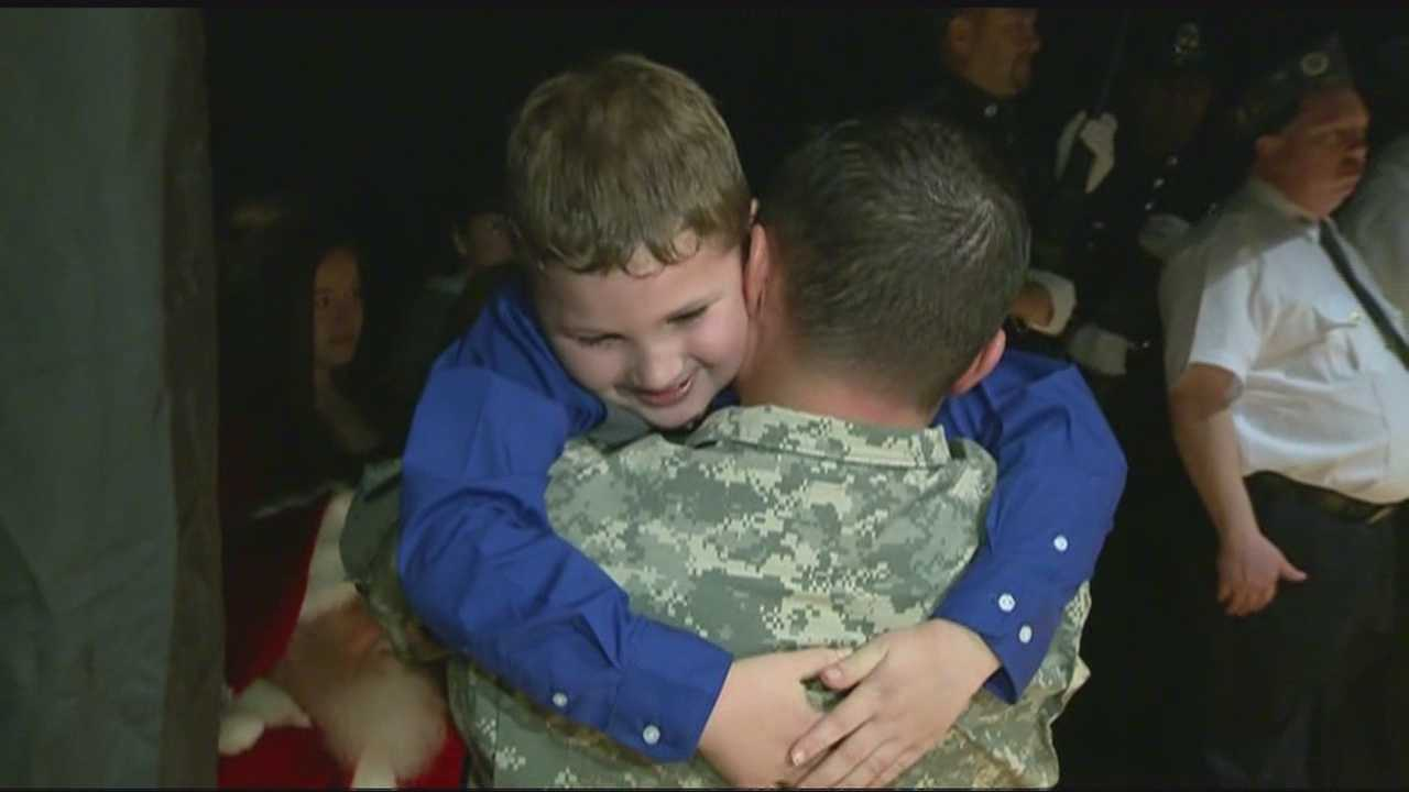 Surprise reunion for soldiers and their kids