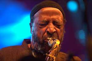 Grammy-winning musician and composer Yusef Lateef was a tenor saxophonist known for his impressive technique, who also became a top flutist. He was a jazz soloist on the oboe and played bassoon. He introduced different types of flutes and other woodwind instruments from many countries into his music and is credited with playing world music before it was officially named. (October 9, 1920 – December 23, 2013)