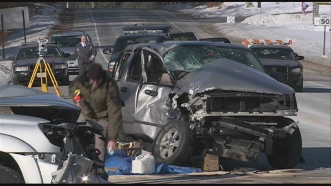New Hampshire police say three cars collided in Brookline Tuesday, killing a 30-year-old woman.  Police say Katie Hamilton of Brookline was pronounced dead at the scene of the 9 a.m. crash Tuesday at the intersection of Routes 13 and 130.