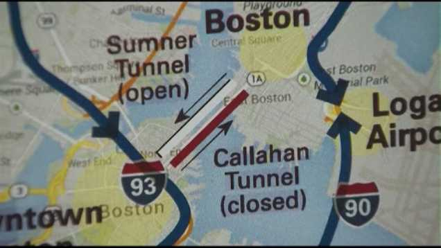 Callahan Tunnel detour 1230