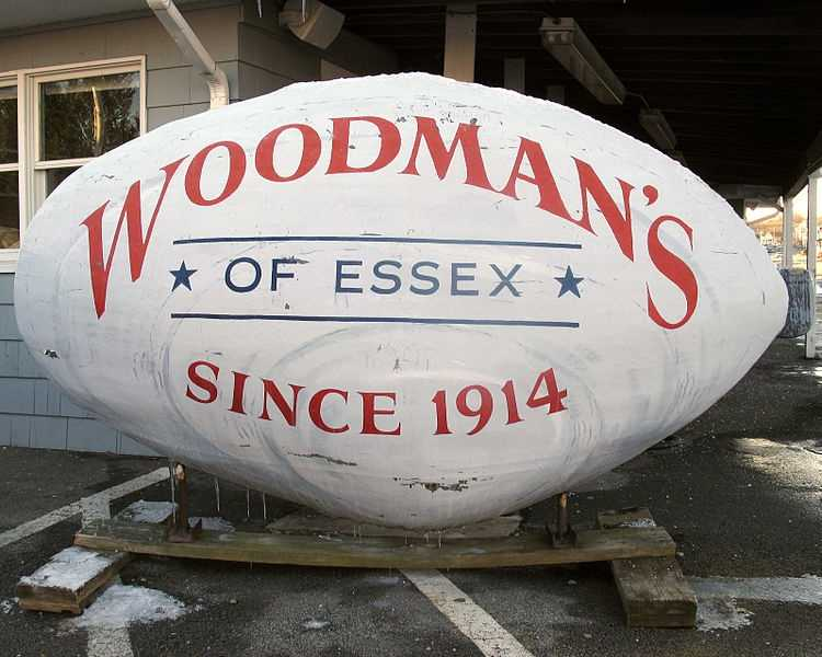 "Woodman's, of Essex, where the very first fried clam in the world was invented. Originally a roadside grocery stand started by Lawrence ""Chubby"" and Bessie Woodman, the restaurant has been serving traditional New England seafood to five generations of fans."
