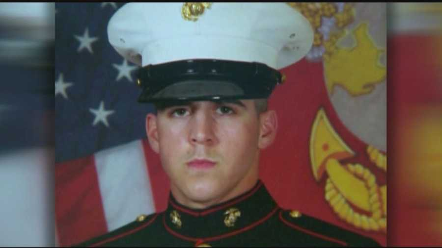 A U.S. Marine sergeant from Abington is making his final trip home.