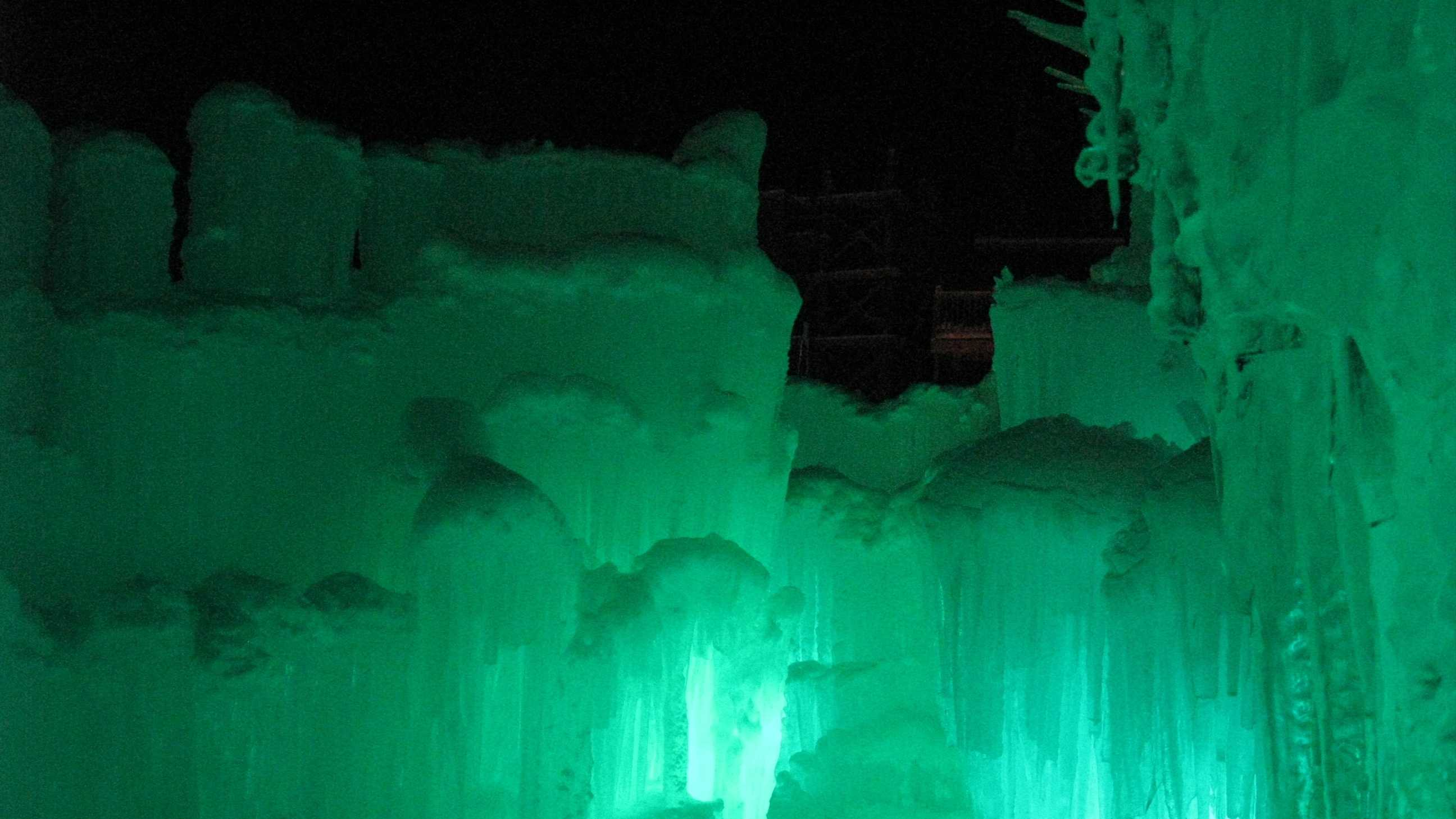 The Ice Castle is the first of its kind on the East Coast.