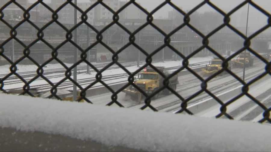 Plows on the Mass Pike.