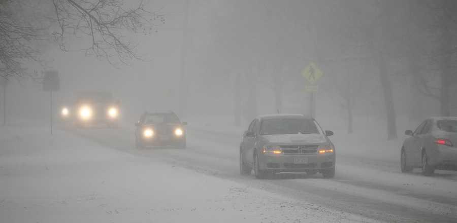 Snow in Hingham Thursday