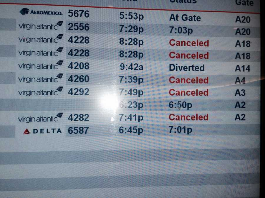 At Logan Airport, airlines suspended flights Thursday night and hoped to resume Friday afternoon.