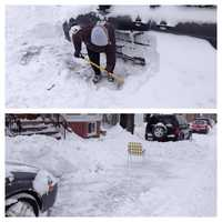 Shoveling out and saving spots in South Boston