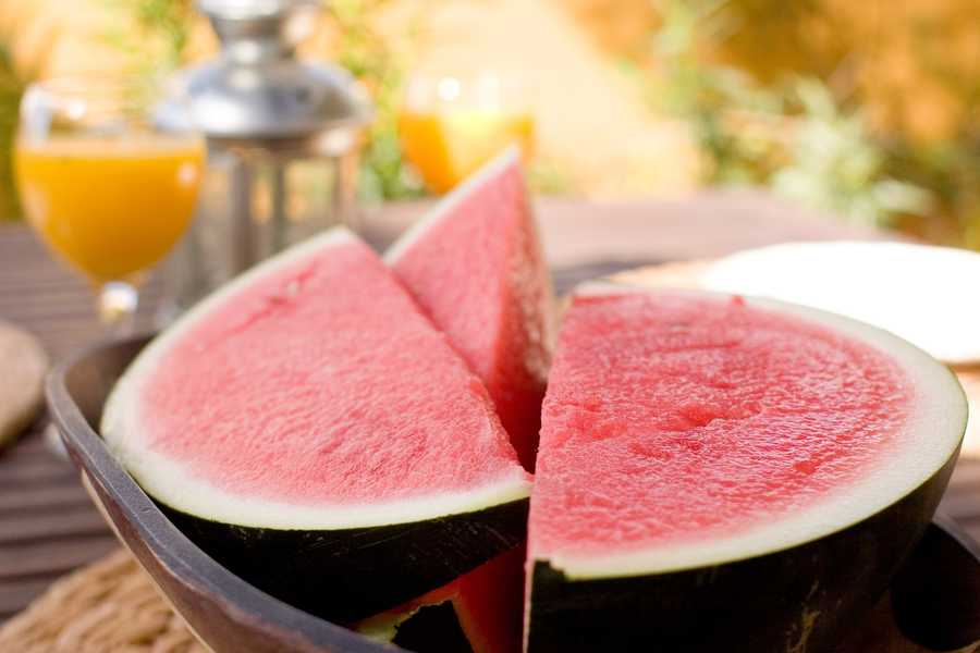 Watermelon is high in lycopene, a nutrient known for its cancer- and heart-disease-fighting benefits.
