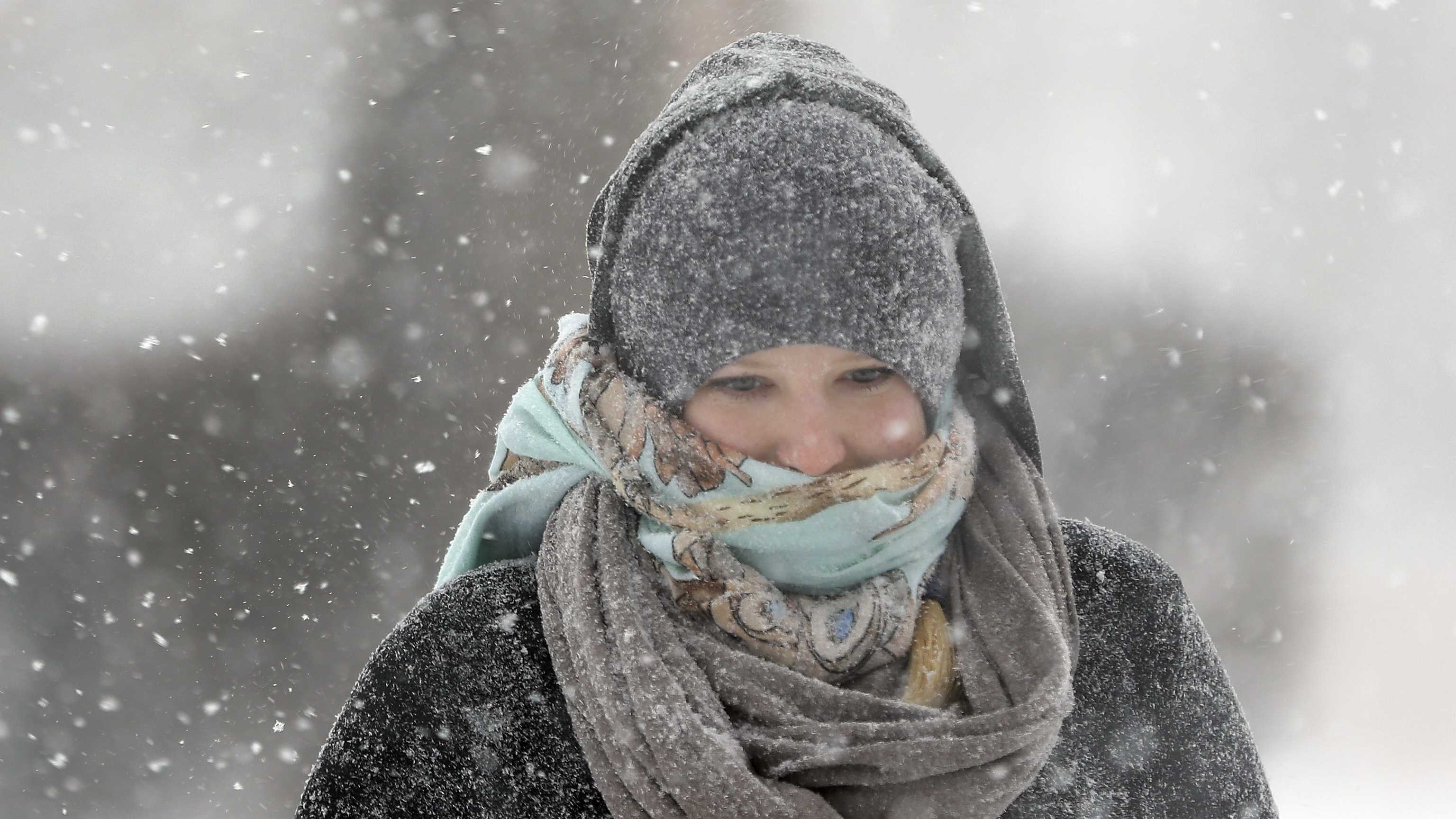 Woman in cold, generic