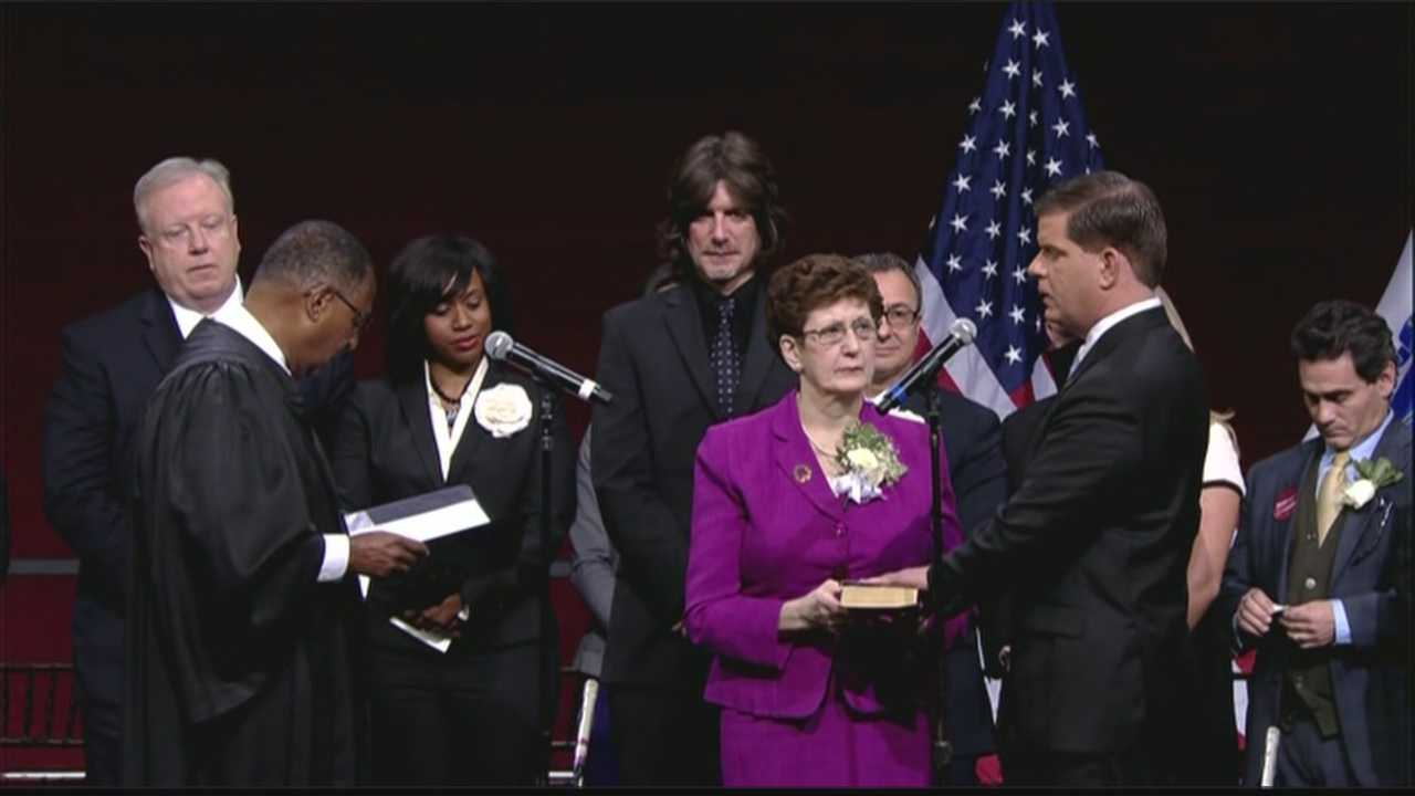 Uncut: Marty Walsh officially sworn in as Mayor of Boston