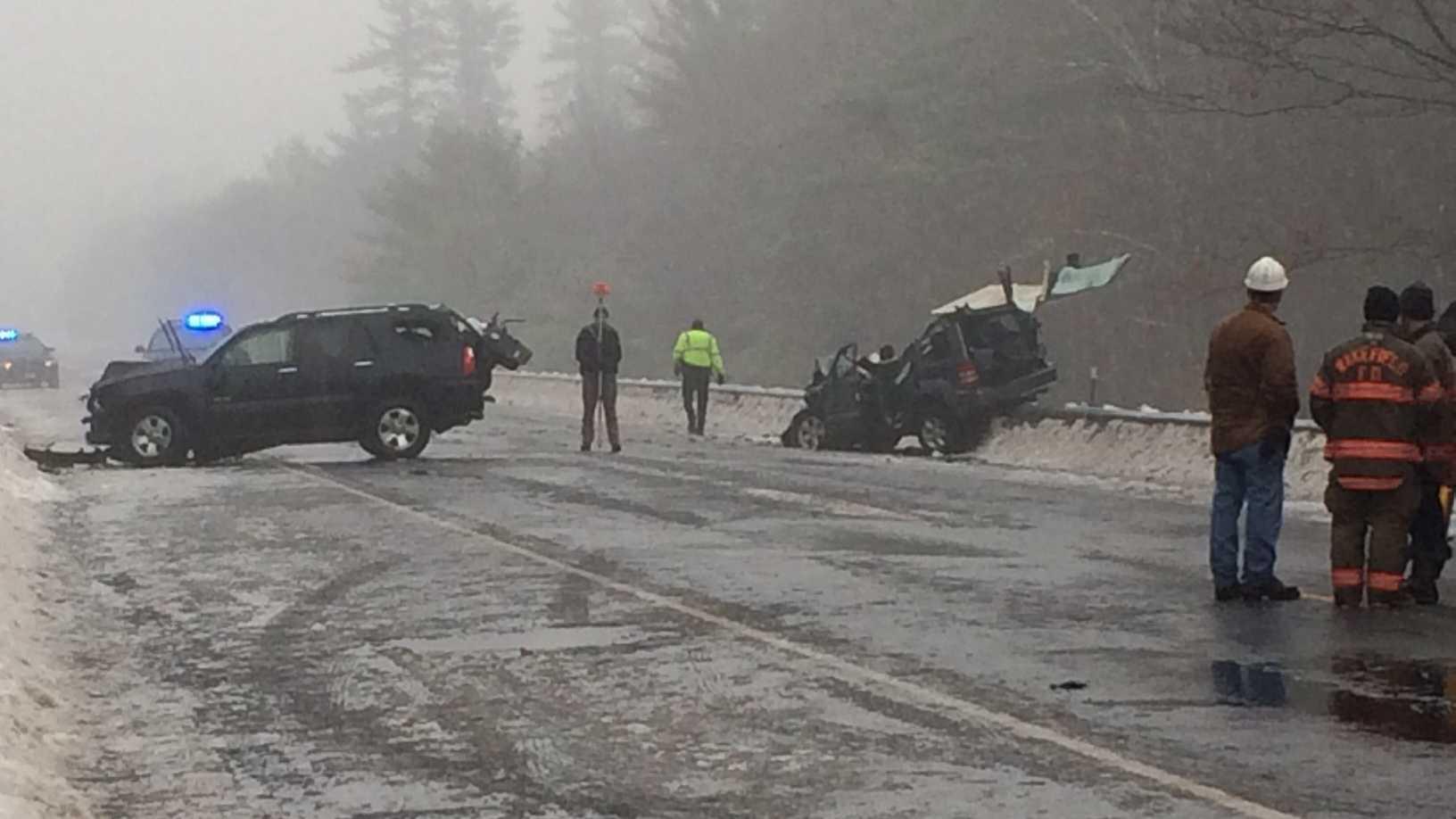 Serious crash on Rt. 16 in Milton