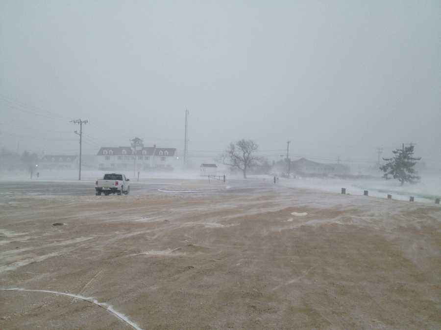 The Cape saw blizzard or near-blizzard conditions for most of the early morning. This is Sandwich.