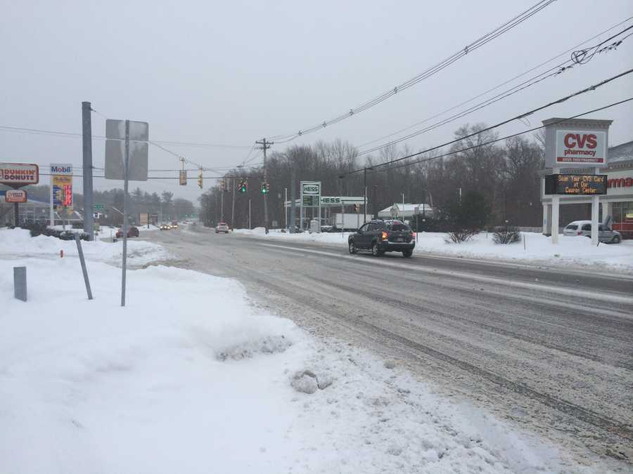 It was a tale of two storms in Massachusetts, with areas to the south of Boston seeing well over a foot of snow, while areas well to the north barely recorded an inch.