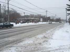 Traffic was light on Route 27 in Brockton.