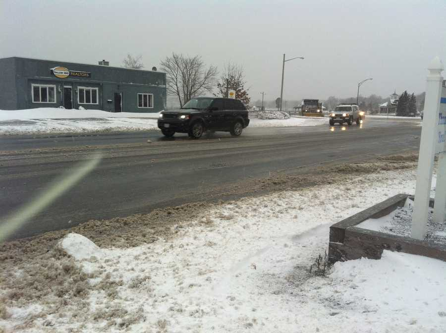 Traffic was light on Route 3A in Hingham.