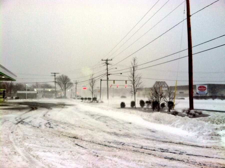 Route 134 in Dennis Wednesday morning.