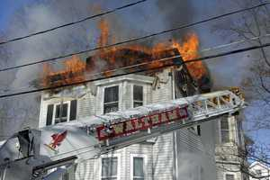 The fire started shortly after 11 a.m. in a home on Prospect Street.