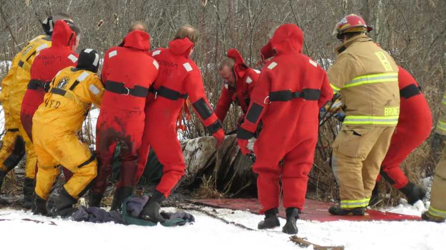 Neighbors heard the horse struggling in the cold water off Bay Road in Hamilton at about 12:30 p.m. and immediately called firefighters.