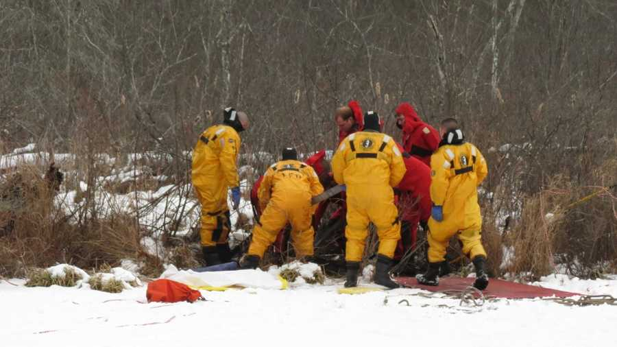 About 25 rescue workers finally managed to free the horse.