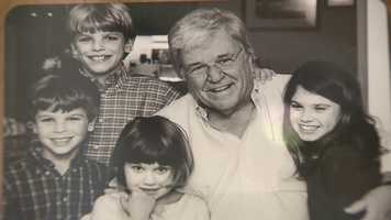 Chet Curtis with some of his grandchildren.
