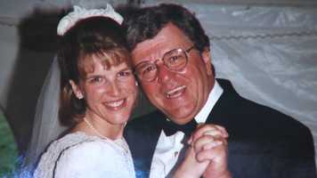 Chet Curtis with daughter Dawn at her wedding.