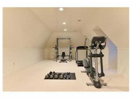 Space for a workout room.