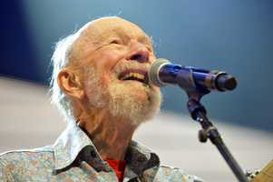"Pete Seeger was the banjo-picking troubadour who sang for migrant workers, college students and star-struck presidents in a career that introduced generations of Americans to their folk music heritage. He wrote or co-wrote ""If I Had a Hammer,"" ''Turn, Turn, Turn,"" ''Where Have All the Flowers Gone"" and ""Kisses Sweeter Than Wine."" (May 3, 1919 – January 27, 2014)"
