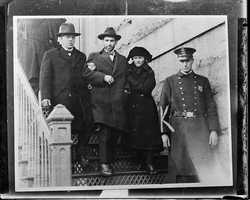 Nicola Sacco with his wife, Rose. Sacco and Vanzetti were sentenced to death in April 1927.