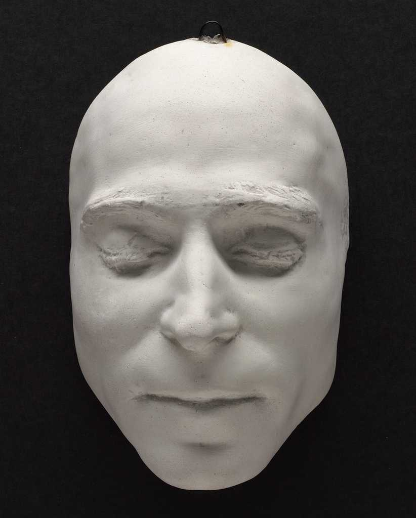 These plaster masks were prepared immediately after the two men's executions by electrocution and are part of the large Sacco and Vanzetti Collection at the Boston Public Library.  This is the death mask of Nicola Sacco.