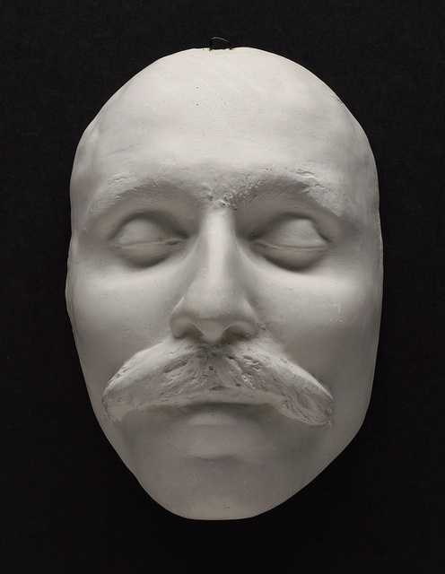 The death mask of Bartolemeo Vanzetti.