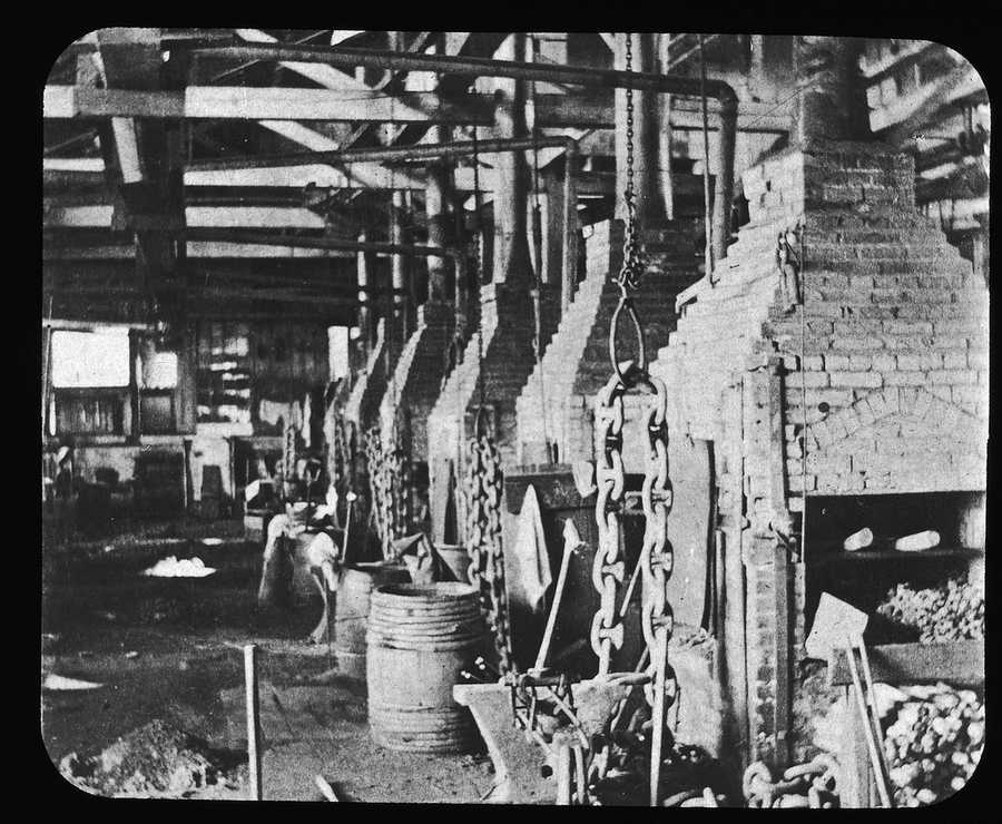 This photo shows the so-called chain room at the prison.