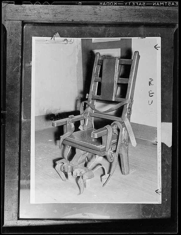 Kaminski, like others put to death at the state prison in Charlestown was electrocuted, likely in this electric chair at the prison.